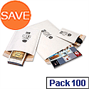 Jiffy No 00 Mailmiser Envelopes White 115 x 195mm (Pack of 100)