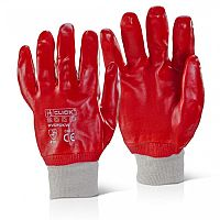 JSP PVC Knitwrist Glove Size 10 L/XL Red ACG317-150-600