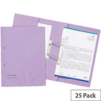 Guildhall Mauve Transfer Pocket File Foolscap Pack of 25