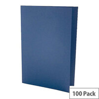 Concord Guildhall 180gsm Square Cut Folder Light-weight Foolscap Blue Pack of 100 41203