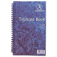 Challenge Triplicate Book Carbonless Wirebound Ruled 210x130mm Pack 5