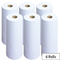 Wypall L20 Wipers Small Couch Roll White 140 Sheets Pack of 6 7415
