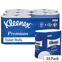 Kleenex Quilted Toilet Paper Rolls White 160 Sheets per Roll (Pack of 24) 8484