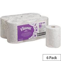 Kleenex Ultra Slimroll 2 Ply White Hand Paper Towel Rolls 100m (6 Rolls) 6781