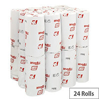 Wypall L20 Extra Small Roll Wipers Blue 2-Ply Pack of 24 7334