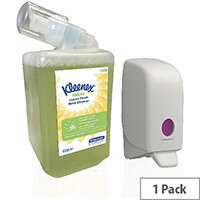 Kleenex Fresh Luxury Foam Hand Cleanser 1 Litre Cartridges (Pack 6) + FOC Aquarius Dispenser KC832087