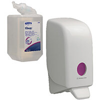 Scott Luxury Foam Hand Cleanser Cassette 1L Pack of 6 FOC Aquarius Sanitiser Dispenser KC832091