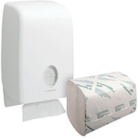 Scott Performance 1 Ply Hand Towels White Pack of 3180 FOC Aquarius Dispenser KC832092