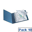 Q-Connect Punched Pocket Polypropylene A3 Folding to A4 Glossy Top-Opening Pack of 10 KF00715