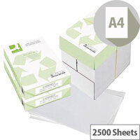 Q-Connect A4 80gsm White Recycled Copier Paper Box of 2500 Sheets