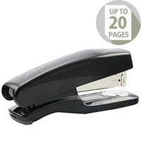 Q-Connect Stapler Plastic Half Strip Black 20 Sheets Capacity