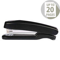 Q-Connect Stapler Plastic Full Strip Black