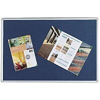 Q Connect Notice Board 1200 x 900mm Aluminium Frame Blue