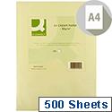 A4 Cream Coloured Copier Paper 80gsm Ream 500 Sheets Q-Connect