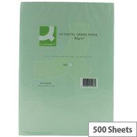A4 Green Coloured Copier Paper 80gsm 500 sheets Q-Connect
