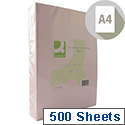 A4 Pink Coloured Copier Paper 80gsm Ream 500 Sheets Q-Connect