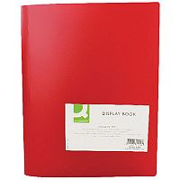 Display Book 40-Pocket Red Q-Connect