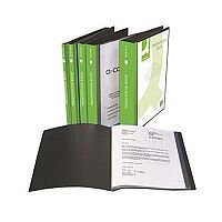 Q-Connect Presentation Display Book 40 Pocket Black