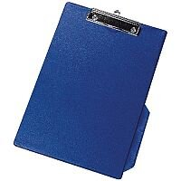 Q-Connect PVC Clipboard Single Blue Foolscap/A4