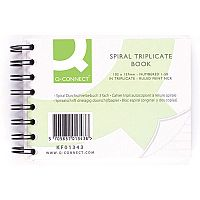 Q-Connect Wiro Bound Carbonless Triplicate Book 4x5 inches