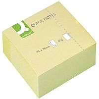 Q Connect Quick Note Cube 75x75mm 400 Sheets Yellow KF01346