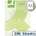 Q-Connect A3 80gsm White Premier Copier Paper Ream of 500 Sheets