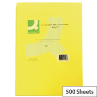 Q-Connect Bright Yellow A4 Paper 80gsm Ream of 500