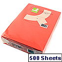 A4 Bright Red Coloured Copier Paper 80gsm  Ream Q-Connect