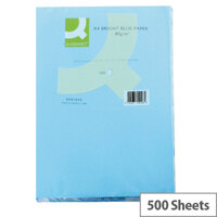 Q-Connect Bright Blue A4 Paper Coloured Copier Card 80gsm Ream of 500
