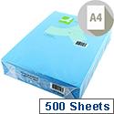 A4 Bright Blue Coloured Copier Paper 80gsm Ream Q-Connect