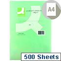 A4 Bright Green Coloured Copier Paper 80gsm  Ream Q-Connect