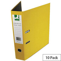 Q-Connect Yellow Foolscap Paperbacked Lever Arch File Pack of 10