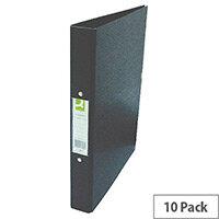 Q-Connect Black A4 2-Ring Polypropylene Binder Pack of 10 KF02005