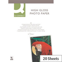 Q-Connect A4 Photo Paper High Gloss  260gsm White (Pack of 20)
