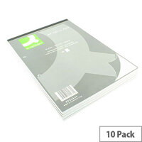 Refill Pad A4 Plain Punched 2-Hole Head Bound 80 Leaf 10 Pack Q-Connect