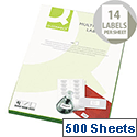 Q-Connect 14 Per Sheet Multi-Purpose Labels 99.1x38.1mm (7000 Labels)