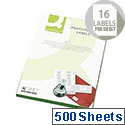 Q-Connect 16 Per Sheet Multi-Purpose Labels 99.1x34mm (8000 Labels)