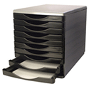 Q-Connect 10 Drawer Tower Black/Grey