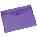 A4 Envelope Wallet Plastic Transparent Purple Pack 12 Q-Connect