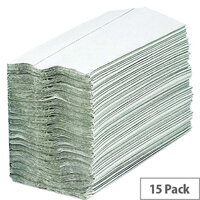 2Work White 1 Ply C-Fold Hand Paper Towel (2880 Towels) HC128WH