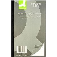 Q-Connect Duplicate Book 8.25x5 inches (210x127mm) Ruled Feint KF04095