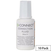 Q-Connect Correction Fluid 20ml Pack 10