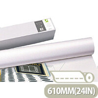 Q-Connect White Plotter Paper 610mm x 50m 80gsm (4 Pack) Ref KF15169