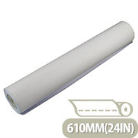 Q-Connect Plotter Paper 610mm x50 Metres 90gsm Pack of 4 Rolls