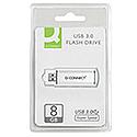 Q-Connect 8GB USB 3.0 Memory Stick Slider Silver/Black