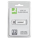Q-Connect 32GB USB 3.0 Slider Memory Stick Silver/Black