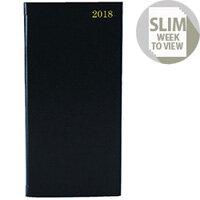 Slim Diary Week To View 2018 Portrait Black KF1BK18