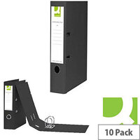 A4 Black Polypropylene Lever Arch File Q-Connect Pack 10