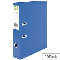 Q-Connect Lever Arch File Foolscap Polypropylene Blue 10 Pack