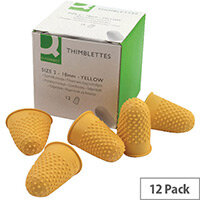 Q-Connect Thimblette No.2 Yellow Pack 12